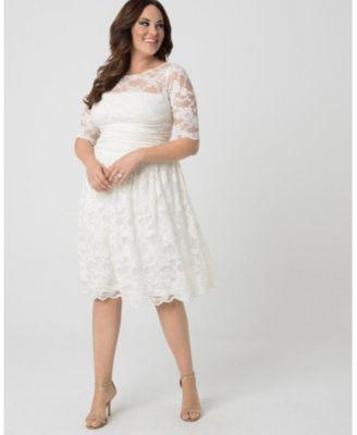 Kiyonna Women S Plus Size Aurora Lace Dress Reviews Dresses