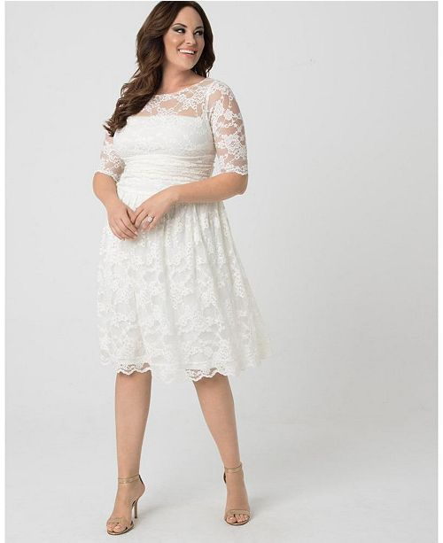 Kiyonna Women S Plus Size Aurora Lace Dress Reviews Dresses Women Macy S