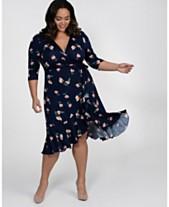 2e8c699d841e Kiyonna Women's Plus Size Flirty Flounce Wrap Dress