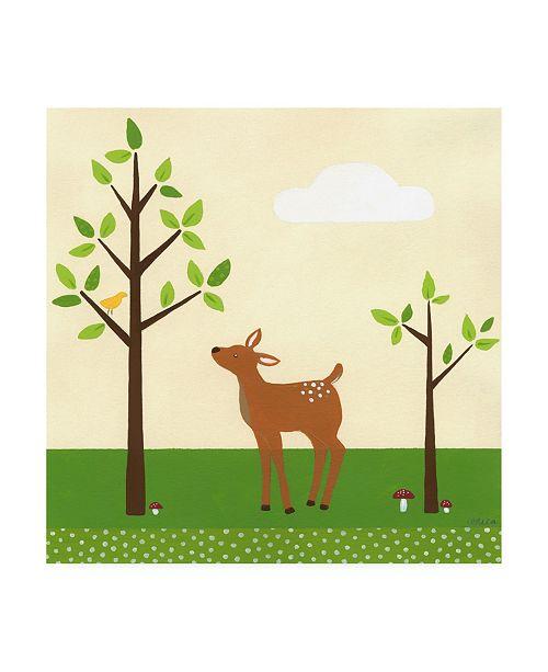 "Trademark Global June Erica Vess Woodland Friends Deer II Canvas Art - 15.5"" x 21"""