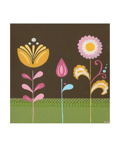 """Trademark Global June Erica Vess Patchwork Garden III Canvas Art - 15.5"""" x 21"""""""