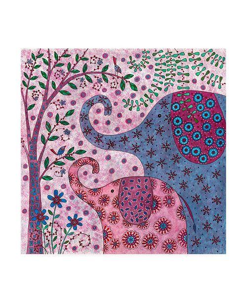 "Trademark Global Kim Conway Elephant Talk Canvas Art - 36.5"" x 48"""