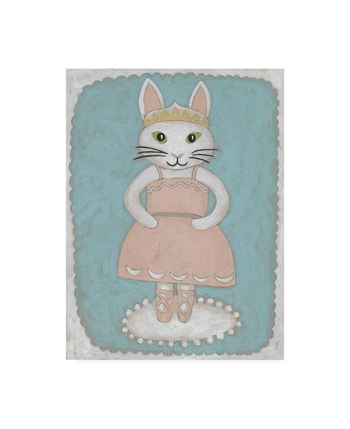 "Trademark Global Chariklia Zarris Ballerina Animal II Canvas Art - 15.5"" x 21"""