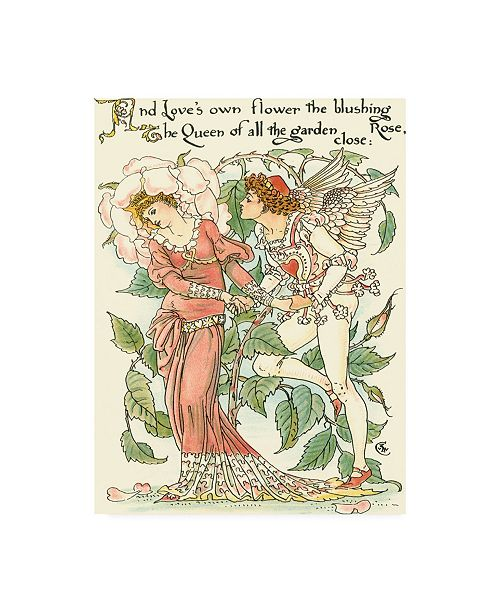 "Trademark Global Walter Crane Shakespeares Garden III (Rose) Canvas Art - 15.5"" x 21"""