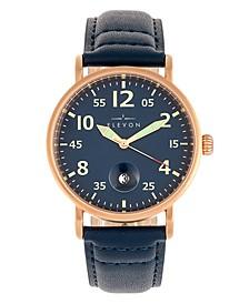 Men's Von Braun Genuine Leather Strap Watch 42mm