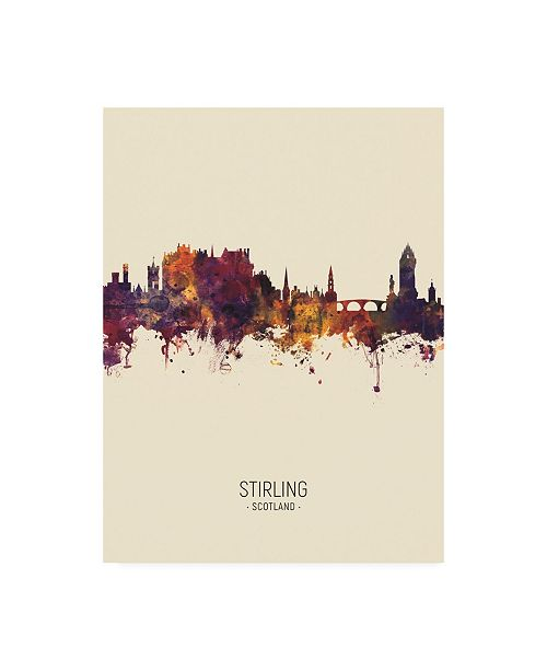"Trademark Global Michael Tompsett Stirling Scotland Skyline Portrait III Canvas Art - 19.5"" x 26"""