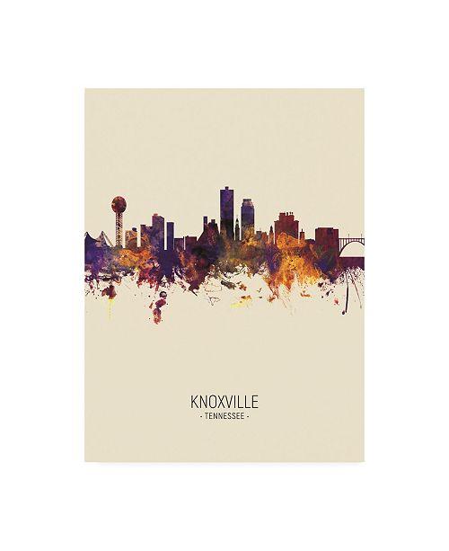 "Trademark Global Michael Tompsett Knoxville Tennessee Skyline Portrait III Canvas Art - 19.5"" x 26"""