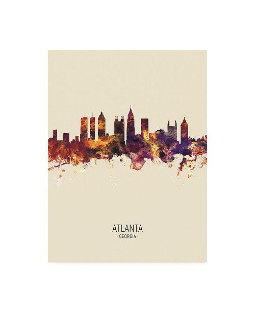 "Trademark Global Michael Tompsett Atlanta Georgia Skyline Portrait III Canvas Art - 19.5"" x 26"""