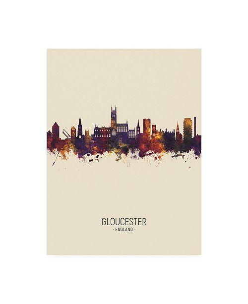 "Trademark Global Michael Tompsett Gloucester England Skyline Portrait III Canvas Art - 19.5"" x 26"""