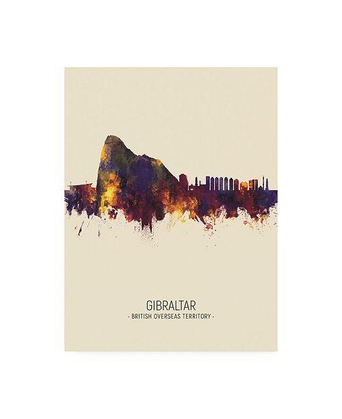 "Trademark Global Michael Tompsett Gibraltar Skyline Portrait III Canvas Art - 19.5"" x 26"""
