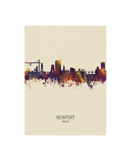 "Trademark Global Michael Tompsett Newport Wales Skyline Portrait III Canvas Art - 36.5"" x 48"""
