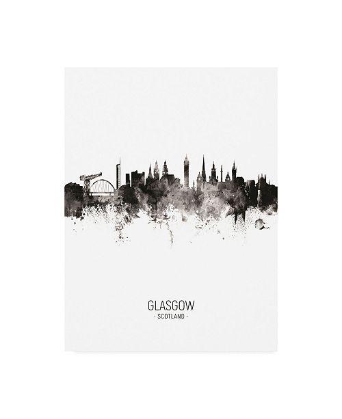 "Trademark Global Michael Tompsett Glasgow Scotland Skyline Portrait II Canvas Art - 19.5"" x 26"""