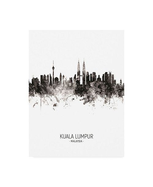 "Trademark Global Michael Tompsett Kuala Lumpur Malaysia Skyline Portrait II Canvas Art - 36.5"" x 48"""