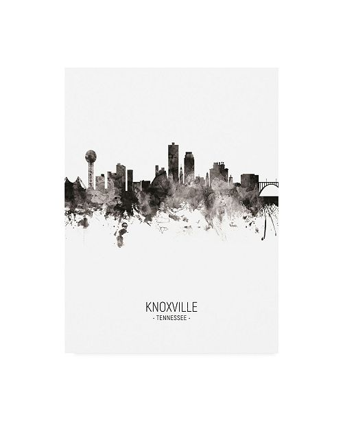 "Trademark Global Michael Tompsett Knoxville Tennessee Skyline Portrait II Canvas Art - 27"" x 33.5"""