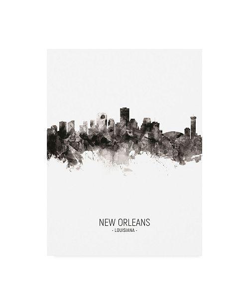 "Trademark Global Michael Tompsett New Orleans Louisiana Skyline Portrait II Canvas Art - 36.5"" x 48"""