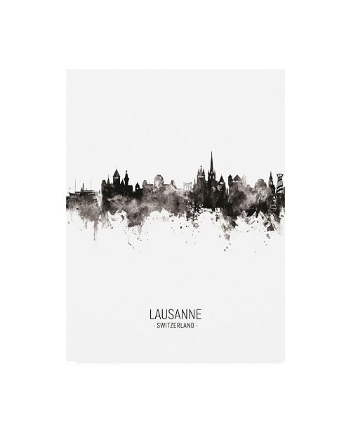 "Trademark Global Michael Tompsett Lausanne Switzerland Skyline Portrait II Canvas Art - 19.5"" x 26"""