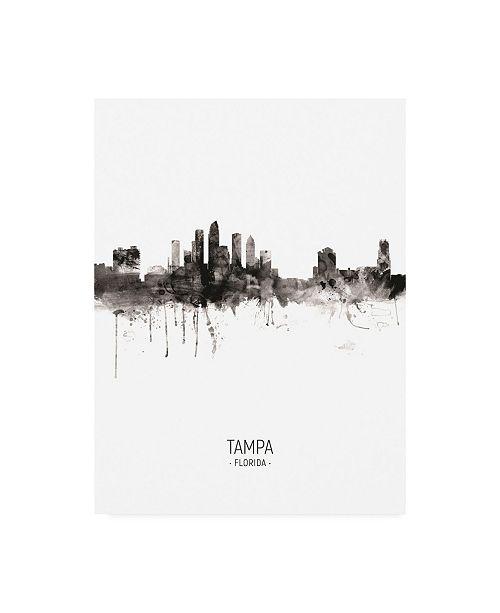 "Trademark Global Michael Tompsett Tampa Florida Skyline Portrait II Canvas Art - 15.5"" x 21"""