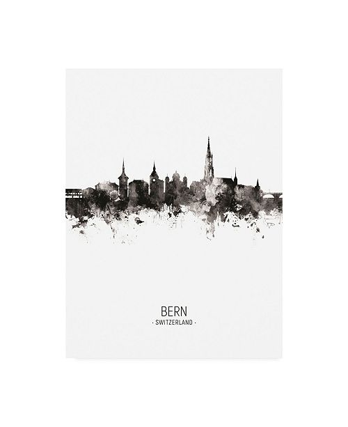 "Trademark Global Michael Tompsett Bern Switzerland Skyline Portrait II Canvas Art - 15.5"" x 21"""