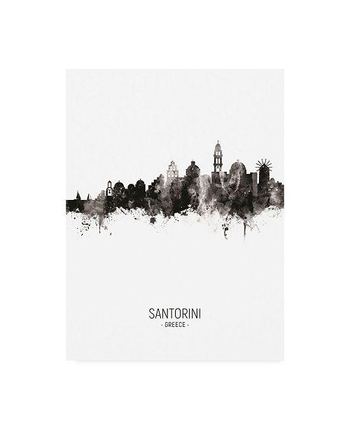 "Trademark Global Michael Tompsett Santorini Skyline Portrait II Canvas Art - 15.5"" x 21"""