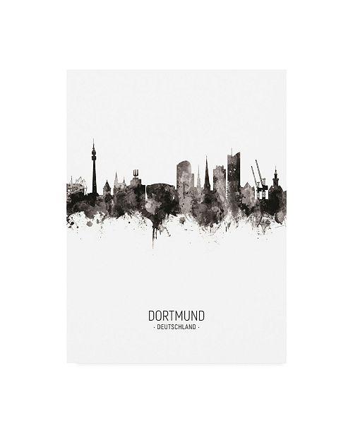 "Trademark Global Michael Tompsett Dortmund Germany Skyline Portrait II Canvas Art - 19.5"" x 26"""