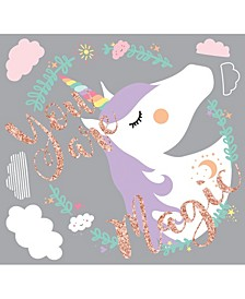 Unicorn Magic Peel and Stick Giant Wall Decals