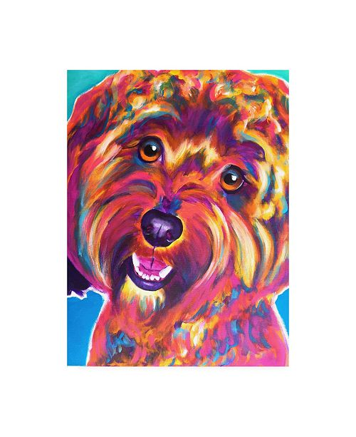 "Trademark Global DawgArt Cavapoo Daisy Canvas Art - 36.5"" x 48"""