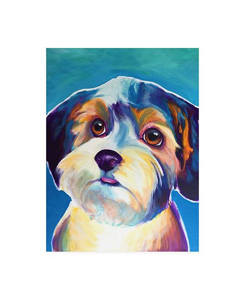 "Trademark Global DawgArt Yorkipoo Zoe Canvas Art - 19.5"" x 26"""