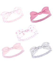 Girl Knotted Jersey Headbands, 5-Pack