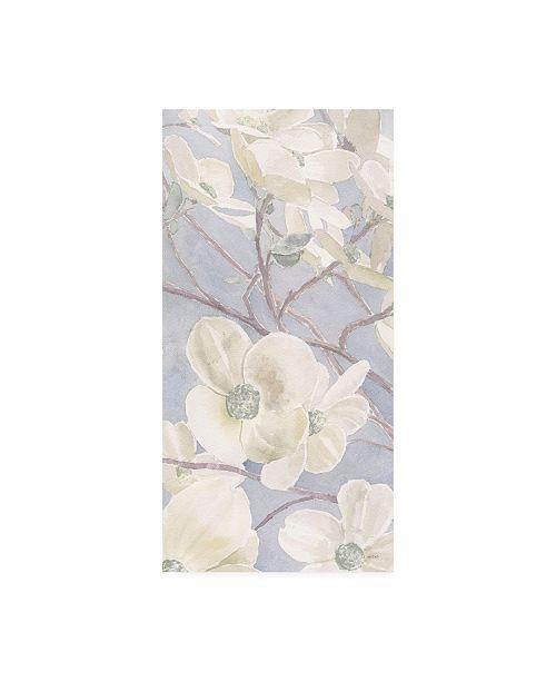 "Trademark Global James Wiens Breezy Blossoms I Sage Canvas Art - 27"" x 33.5"""