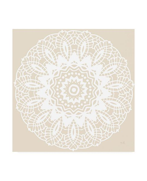 "Trademark Global Moira Hershey Contemporary Lace Neutral II Canvas Art - 15.5"" x 21"""