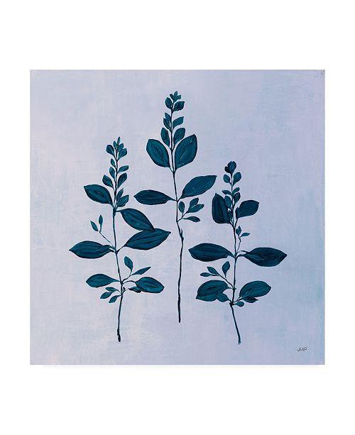 "Trademark Global Julia Purinton Botanical Study IV Blue Canvas Art - 19.5"" x 26"""