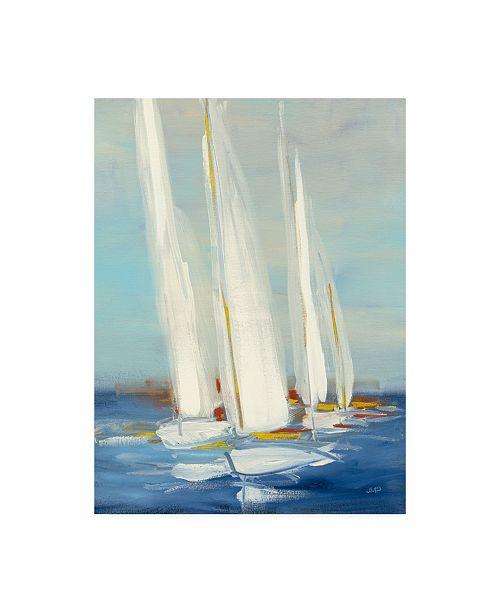"Trademark Global Julia Purinton Summer Regatta II Red Yellow Canvas Art - 27"" x 33.5"""