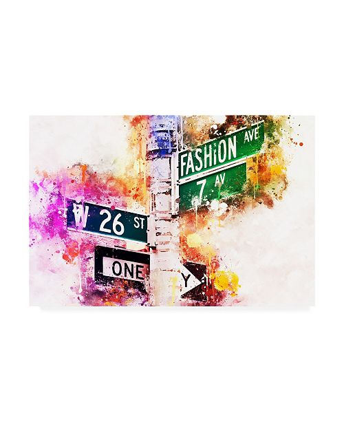"""Trademark Global Philippe Hugonnard NYC Watercolor Collection - Fashion Ave Canvas Art - 36.5"""" x 48"""""""
