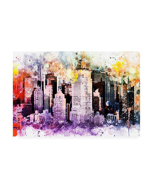 """Trademark Global Philippe Hugonnard NYC Watercolor Collection - Midtown Canvas Art - 15.5"""" x 21"""""""