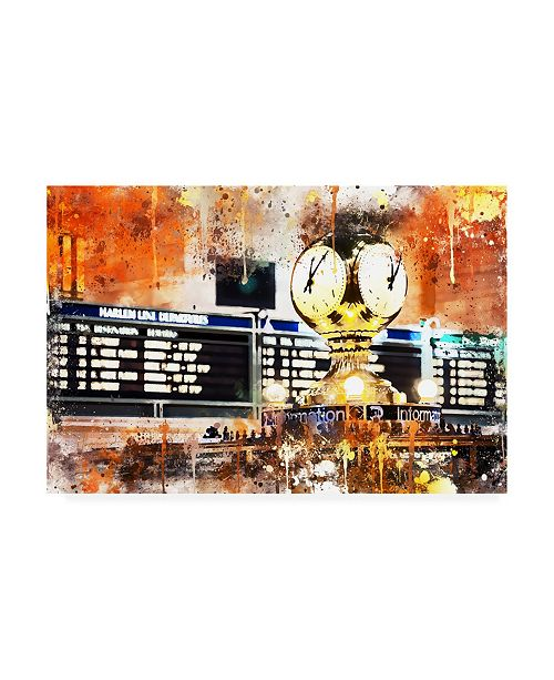 """Trademark Global Philippe Hugonnard NYC Watercolor Collection - Its Time to Go Canvas Art - 36.5"""" x 48"""""""