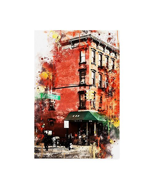 "Trademark Global Philippe Hugonnard NYC Watercolor Collection - Street angle Canvas Art - 36.5"" x 48"""