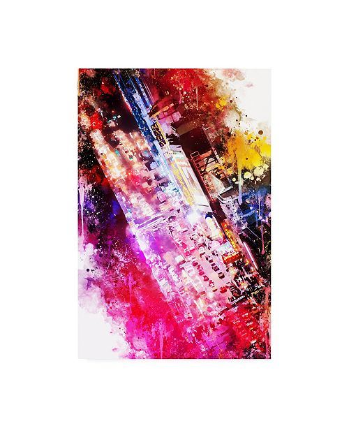 """Trademark Global Philippe Hugonnard NYC Watercolor Collection - 42 Street Canvas Art - 36.5"""" x 48"""""""