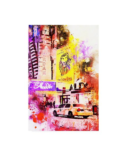 "Trademark Global Philippe Hugonnard NYC Watercolor Collection - King of the Jungle Canvas Art - 15.5"" x 21"""
