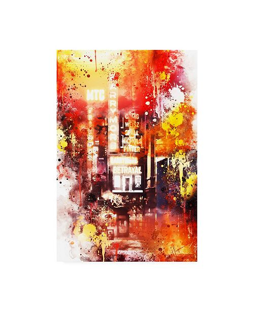 "Trademark Global Philippe Hugonnard NYC Watercolor Collection - Spotlight Canvas Art - 15.5"" x 21"""
