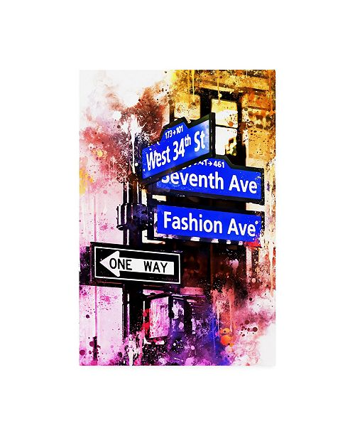 """Trademark Global Philippe Hugonnard NYC Watercolor Collection - Directions Canvas Art - 36.5"""" x 48"""""""