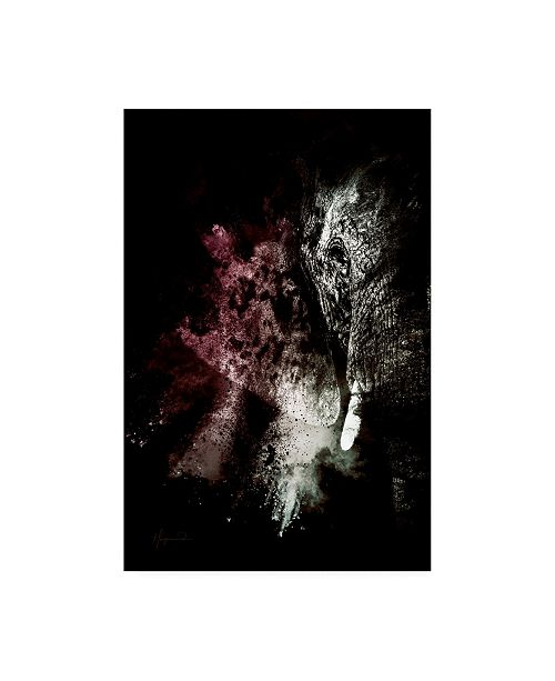 """Trademark Global Philippe Hugonnard Wild Explosion Collection - the Elephant Canvas Art - 19.5"""" x 26"""""""
