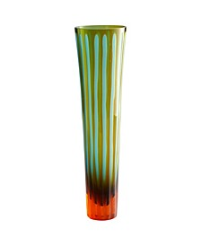 Large Striped Vase - Orange