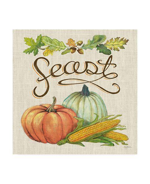 "Trademark Global Mary Urban Autumn Harvest II Linen Canvas Art - 19.5"" x 26"""