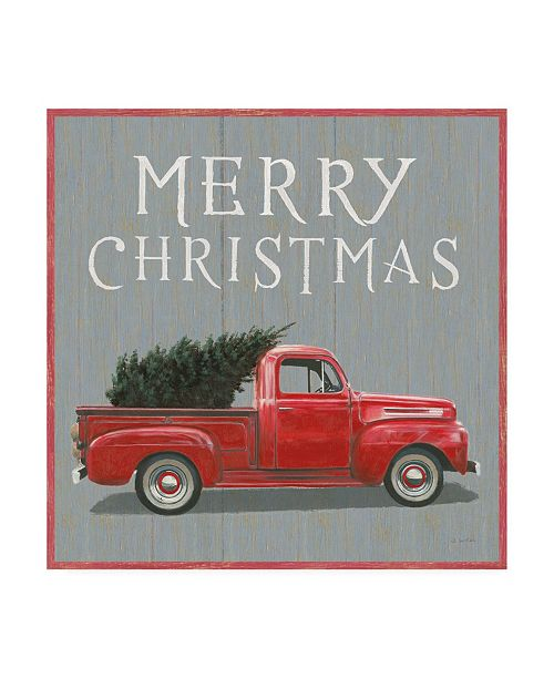 "Trademark Global James Wiens Christmas Affinity XI Merry Christmas Canvas Art - 36.5"" x 48"""