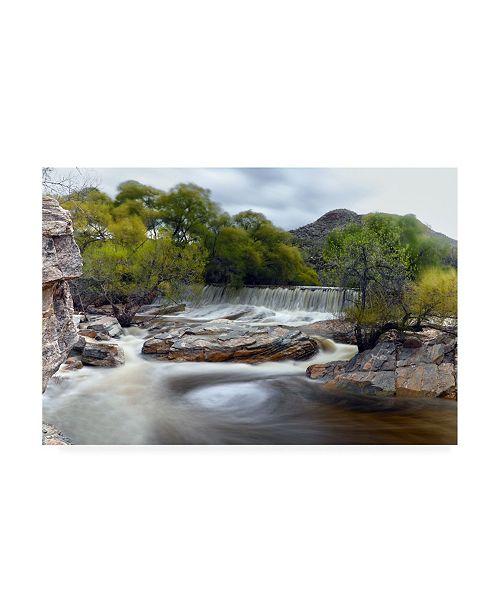 "Trademark Global Mitch Catanzaro Sabino Canyon Falls Canvas Art - 27"" x 33.5"""