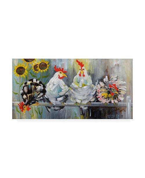 "Trademark Global Stephanie Aguila Ladies Who Lunch Canvas Art - 36.5"" x 48"""