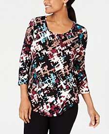Scoop-Neck 3/4-Sleeve Top, Created for Macy's