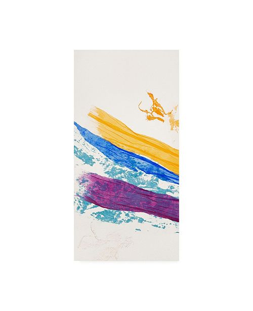 "Trademark Global Jan Sullivan Fowle Waves of Washi No. 1 Canvas Art - 15.5"" x 21"""