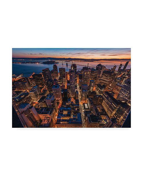 "Trademark Global Bruce Gett Morning Look Down San Francisco Canvas Art - 36.5"" x 48"""