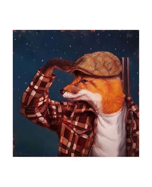 "Trademark Global Lucia Hefferna Fox Hunt Canvas Art - 15.5"" x 21"""